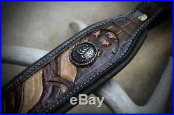 Rifle Sling, Seelye Leather Works, Hand tooled, Don't Tread On Me, Leather