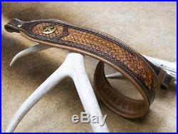 Rifle Sling, Seelye Leather Works, Hand tooled and carved in the USA, Ranger