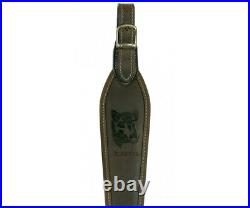 Riserva Leather Rifle Sling With Wild Boar Engraving
