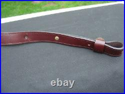 Ruger Brand Leather Rifle Sling Cobra Style