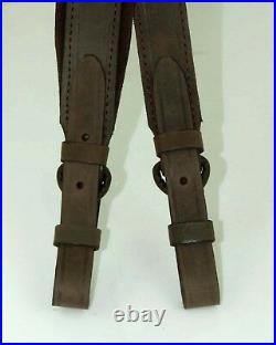 Russian Yuft Leather Rifle Sling with Velour, Gun, Shotgun Strap, Hunting