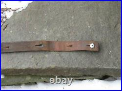SWISS LEATHER RIFLE SLING 1877 with clear STAMPING 77 W. WEISS SATTLER MUHLETHUR