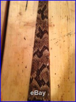 Snake skin Gun sling Timber Rattler and Leather