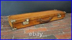 Superb English Tan leather Gun Case Hunting Slip with key