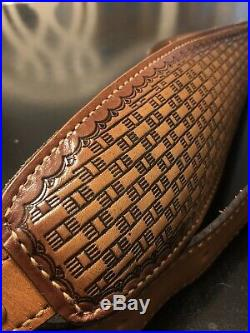 TOREL Leather Strap Padded Basket Weave Rifle Sling Deluxe NEW OLD STOCK IN BOX