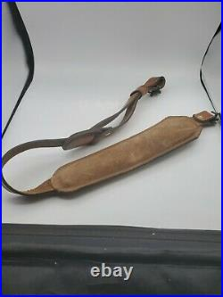 TOREL Rifle Sling Tooled Buck Scene #4750 Top Grain Cowhide Leather USA Padded