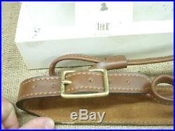 Torel gunslinger brown leather rifle sling, with original box, LEE K