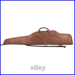 Tourbon Genuine Leather Rifle Soft Case Gun Slip Scoped Sling Bag Carry Vintage