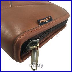 Tourbon Genuine Leather Rifle Soft Case Gun Storage Scoped Sling Bag Safe Carry