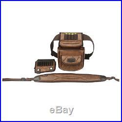 Tourbon PU Leather Rifle Cartridges Holder Cheek Rest Risers+Gun Sling+Ammo Pack