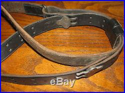 Turner Saddlery black leather rifle sling m1907 used