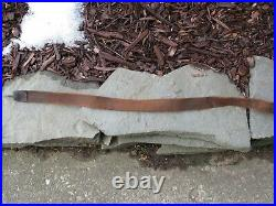 US CIVIL WAR / INDIAN WARS ERA LEATHER RIFLE SLING with DOUBLE WIRE BRASS HOOK