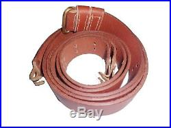 US Springfield Rifle WWI 1907 Pattern Brown Leather Sling (Brass) Repo Zh36138