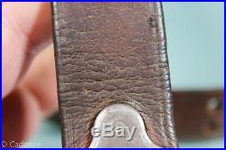 US WW2 M1903 Springfield M1 Garand Leather Rifle Sling. Faint Boyt 43 Mark S181
