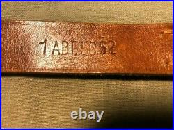 US post WW2 leather rifle sling for M1 Carbine-Bavarian