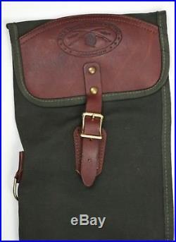 VINTAGE Orvis Battenkill Canvas Leather Shotgun Rifle Case Bag Sling 50'' x 7.5
