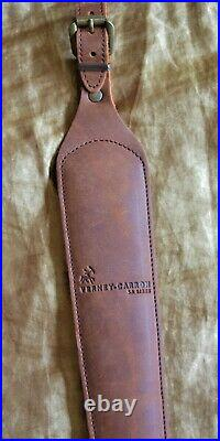 Verney Carron Brown Leather Anti Slip Back Cobra Rifle Sling with Bullet Holders