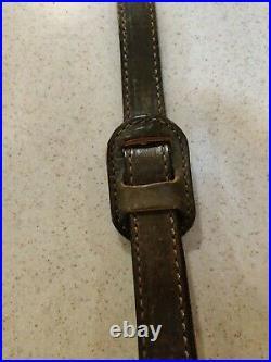 Vintage AA&E Top Grain Leather Deer Scene Rifle/Shotgun Sling Padded 1002