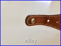 Vintage Bianchi #62 Leather Sling Brown Leather Bianchi Cobra Rifle Sling NOS