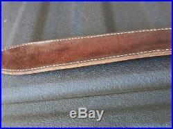 Vintage Bianchi Cobra Basketweave Tool Leather Rifle Sling Carrying Strap