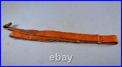 Vintage Brauer Bros Mfg. St. Louis Brown Leather Rifle Sling for M1 Garand M1903