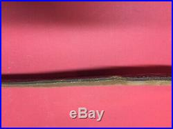 Vintage Brown Leather Rifle Sling Stamped Hand Tooled Buck Deer Padded USA 70's