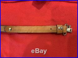 Vintage Browning Leather Horse Hair Rifle Sling Made New From 1994