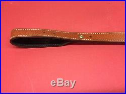 Vintage Browning Leather Thumbhole Rifle Sling Made in USA Very Nice BAR Belgium