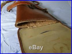 Vintage Del Cazador Leather Crafter Leather Double Over/under Shotgun Sling Case