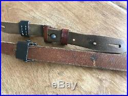 Vintage German K98 Mauser Rifle Leather Sling WWII