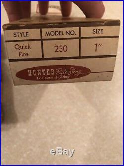 Vintage Hunter Co Leather Rifle Sling 1 ¼ Model 200 Unused W Original Box NICE