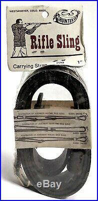 Vintage Hunter Leather Rifle Sling 220 1 Sling Carrying Strap (#5598)