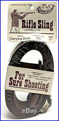 Vintage Hunter Leather Rifle Sling 220 1 Sling Carrying Strap (#5609)