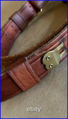 Vintage Leather Rifle Sling, Brass, Springfield 1903/m1907 Olympian 205