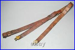 Vintage Leather WWI M1907 Springfield/M1 Garand Rifle Sling Dated LADEW 1917 FLH