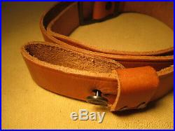 Vintage Marlin Logo Factory Leather Rifle Sling