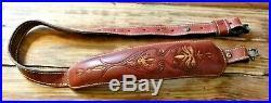 Vintage Stalker Deer Tracks Leather Shotgun Rifle Sling Great Condition