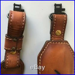 Vintage TOREL Rifle Sling #4825 Eagle Scene Tooled Leather Cowhide Padded