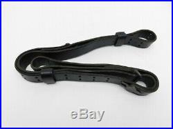 Vintage Turner Saddlery Black Leather Gun Rifle Military Tactical Sling 54