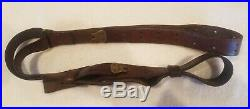 Vintage USGI WWII Boyt Leather Rifle Sling (The REAL DEAL) 1 1/8 Wide M1907