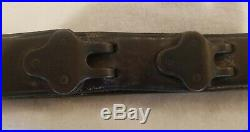 Vintage USGI WWII Leather Rifle Sling (The REAL DEAL) 1 1/8 Wide M1907