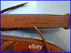 Vintage Used Bianchi Cobra #75 GRANDE Sling Leather Rifle Sling/Strap withSwivels