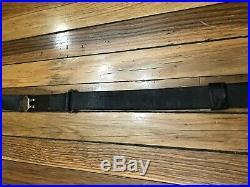 Vintage WWI Era US CO 1917 Leather Rifle Sling
