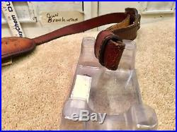 Vintage Weatherby Elephant Head Leather Rifle Sling. Rare Torel brand
