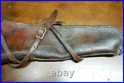 Vintage Winchester heavy leather saddle holster rifle sling 37 x 9