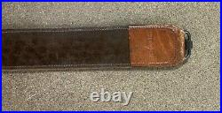 Vtg Browning Tooled Leather Rifle Sling Factory OEM