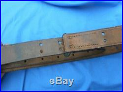 WW1 US M1907 Leather Rifle Sling L- FCO. 1918 Marked-Original