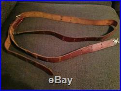 WW2 World War I Garand M1907 Springfield rifle leather sling Turkey Korea Japan