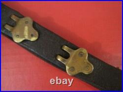 WWI Era US ARMY AEF M1907 Leather Sling M1903 Springfield Rifle Original #1
