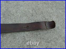 WWI Ersatz French Made Leather Rifle Sling BERTHIER MAS Metal Buckle